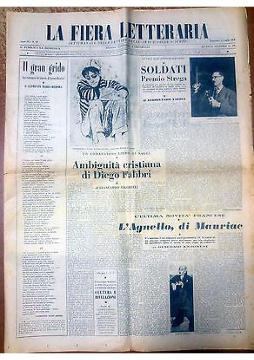 LA FIERA LETTERARIA anno IX n. 28 11 luglio 1954 Vigorelli Piovene La Pira
