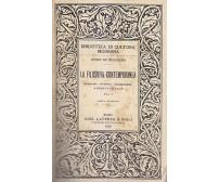 LA FILOSOFIA CONTEMPORANEA di Guido De Ruggiero Volume I e II 1929 Laterza