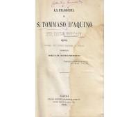 LA FILOSOFIA DI SAN TOMMASO D AQUINO di Carlo Jourdain 1860 Marghieri