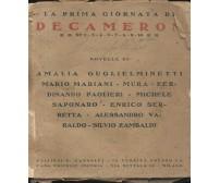 LA PRIMA GIORNATA DI DECAMERON 1922 Guglielminetti Mariani Mura Paolieri Varaldo