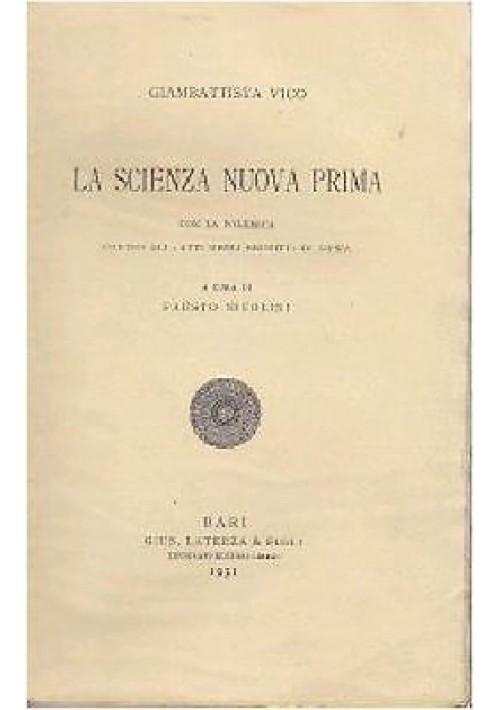 LA SCIENZA NUOVA PRIMA CON LA POLEMICA CONTRO ATTI ERUDITI DI LIPSIA Vico 1931