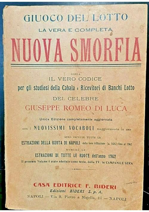 LA VERA E COMPLETA NUOVA SMORFIA GIUOCO DEL LOTTO di Giuseppe Romeo 1963  libro