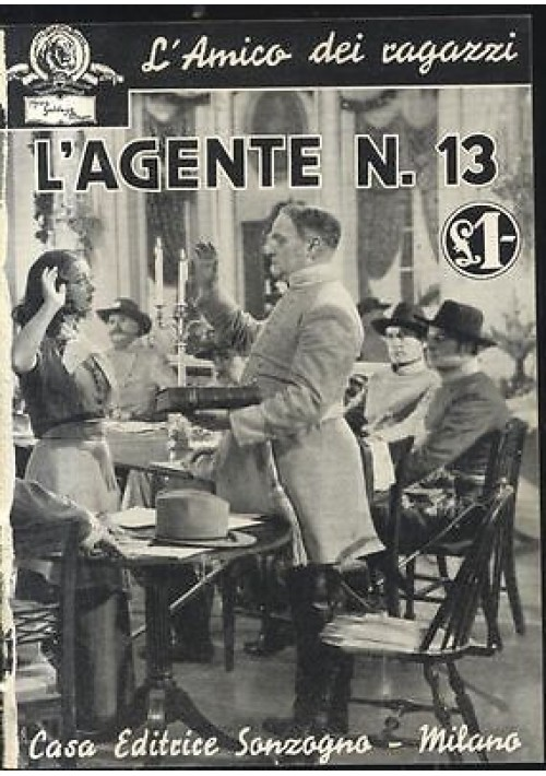 L'AGENTE N. 13 con foto tratte film MGM 1936 Sonzogno racconto cinematografico