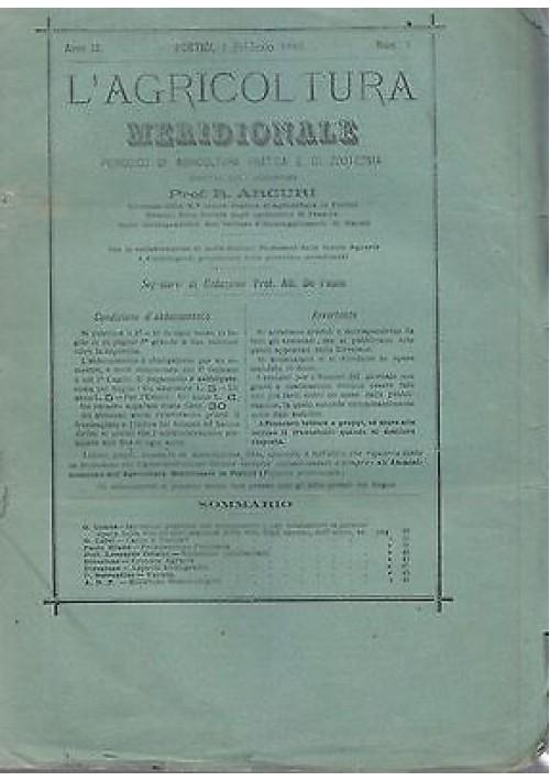 L'AGRICOLTURA MERIDIONALE 1 febbraio 1886 periodico agricoltura pratica Portici
