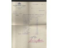 L'AQUILA calcio lettera intestata 1933 Autografo Antonio Budini partita