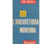 L'ARCHITETTURA MODERNA  Gillo Dorfles 1954  Garzanti  serie saper tutto