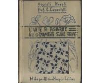 L'ARTE DI DISPORRE GLI ORNAMENTI SULLE STOFFE di E. Casartelli 1911 Hoepli *