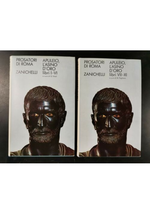 L'ASINO D'ORO o le metamorfosi di Apuleio 2 volumi 1971 Zanichelli testo libri
