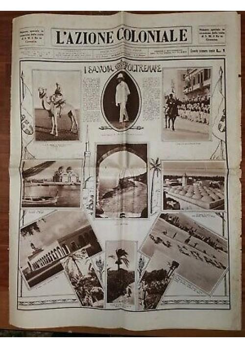 L'AZIONE COLONIALE Numero Speciale Visita Re in Cirenaica 25 aprile 1933 Libia