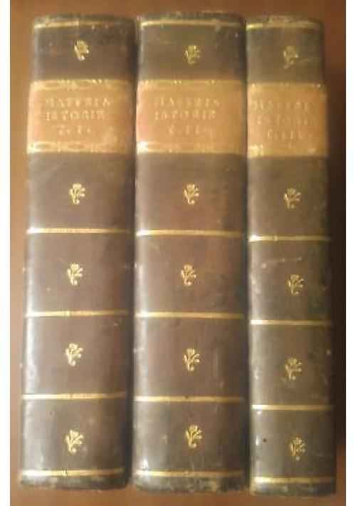 LE ISTORIE DELLE INDIE ORIENTALI di Pietro Maffei 1806 3 volumi COMPLETO