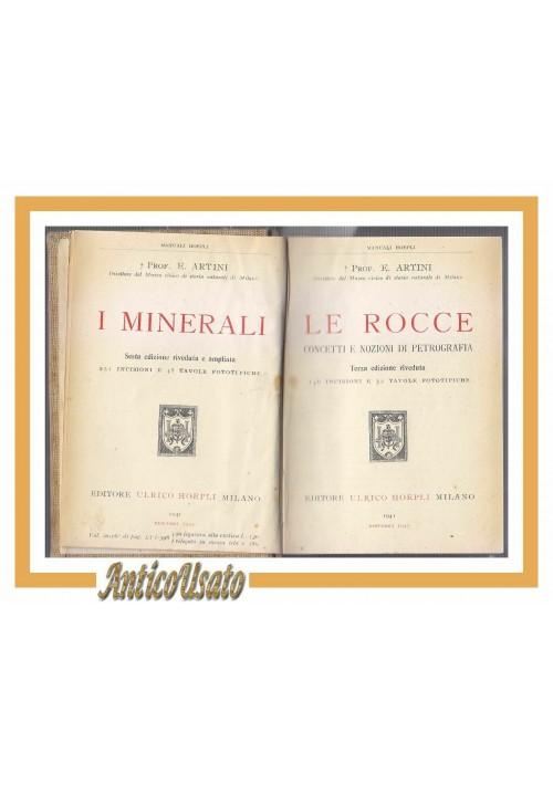 LE ROCCE concetti e nozioni di petrografia Artini 1945 Hoepli libro petrografia