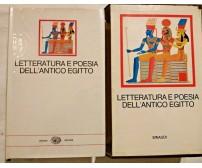 LETTERATURA E POESIA DELL'ANTICO EGITTO 1969 Einaudi Millenni libro usato