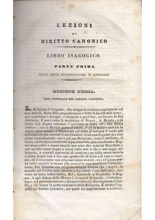 LEZIONI DI DIRITTO CANONICO PUBBLICO E PRIVATO di T. Salzano VOLUMI 1 e 2 1847