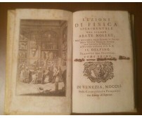 LEZIONI DI FISICA SPERIMENTALE TOMO I Abate Nollet 1751 Giambattista Pasquali