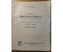 LEZIONI DI METALLURGIA E METALLOGRAFIA Tabelle e Tavole di Raffaello Zoia 1960