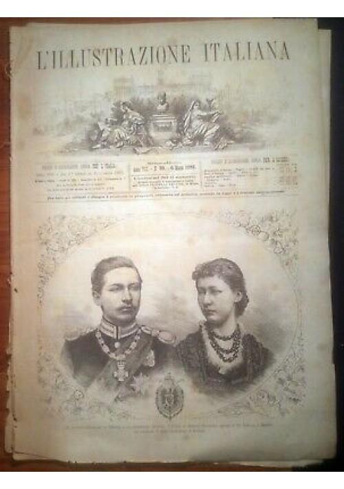L'ILLUSTRAZIONE ITALIANA ANNO VIII 10 - 6 marzo 1881 divisa portalettere posta