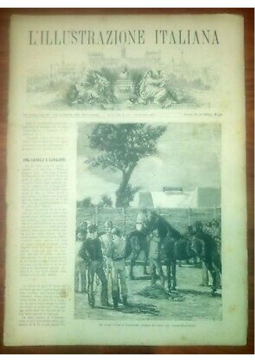 L'ILLUSTRAZIONE ITALIANA ANNO VIII 42 -16 ottobre 1881 corse ippiche Colbassano