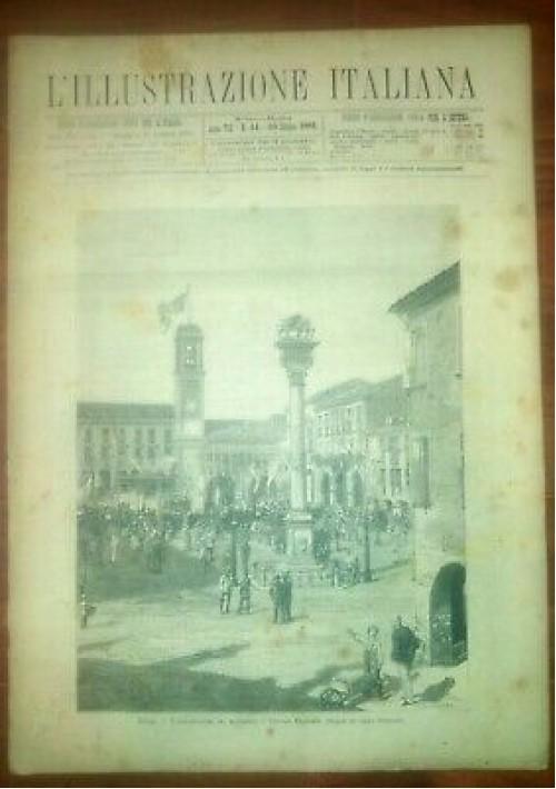 L'ILLUSTRAZIONE ITALIANA ANNO VIII 44 -30 ottobre 1881 Rovigo Monumento V. E.