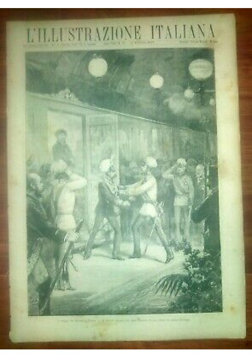 L'ILLUSTRAZIONE ITALIANA ANNO VIII 46 -13 novembre 1881 viaggio sovrani Vienna