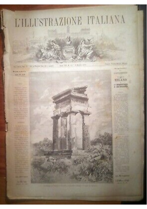 L'ILLUSTRAZIONE ITALIANA ANNO VIII n. 19 - 8 maggio 1881 cattedrale di Palermo