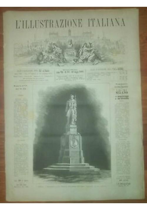 L'ILLUSTRAZIONE ITALIANA ANNO VIII n. 24 12 giugno  1881 Modena  Pontieri Tevere