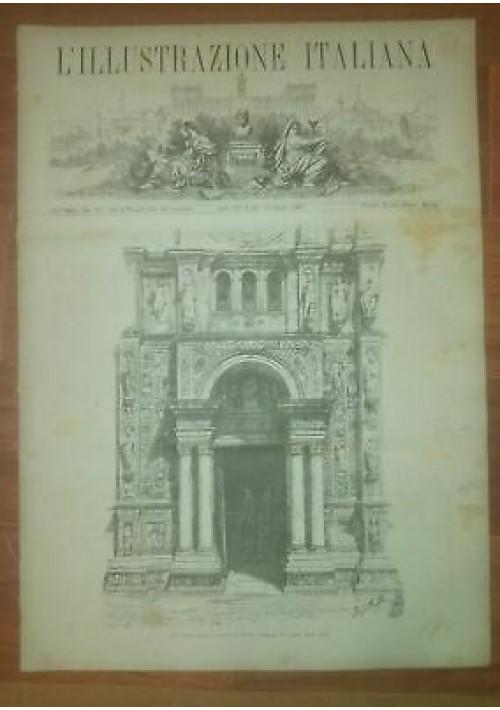 L'ILLUSTRAZIONE ITALIANA ANNO VIII n. 25 19 giugno 1881 Ferrovia Pavia Calderon
