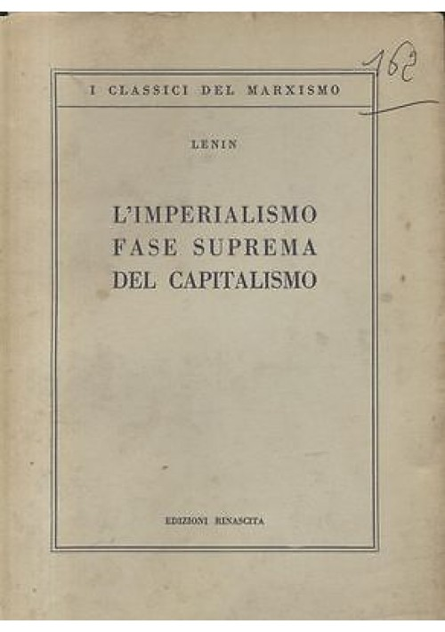 L IMPERIALISMO FASE SUPREMA DEL CAPITALISMO saggio popolare di Lenin - Comunismo