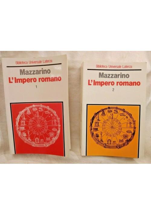 L'IMPERO ROMANO di Mazzarino 2 volumi 1990 Laterza libro biblioteca universale