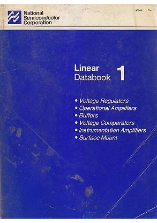LINEAR DATABOOK 1  National Semiconductor Corporation 1987  voltage regulators