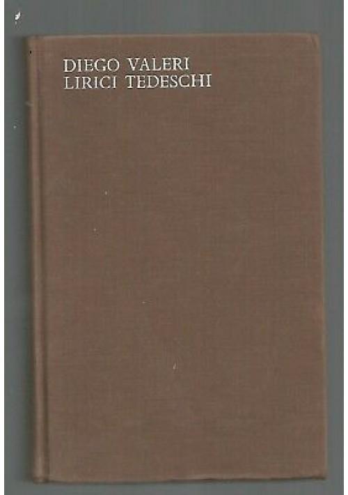 LIRICI TEDESCHI  di Diego Valeri 1964 Arnoldo Mondadori  collana Lo specchio