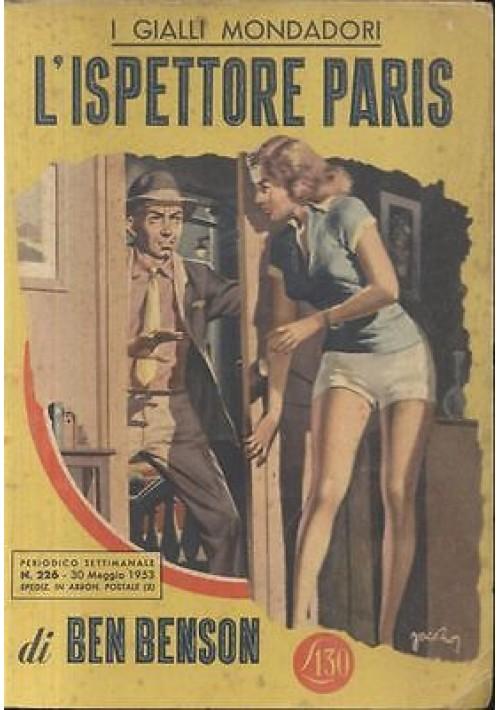 L'ISPETTORE PARIS - Ben Benson 1953 Mondadori n. 226  30 maggio 1953 I edizione