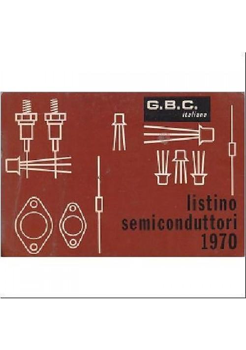 LISTINO SEMICONDUTTORI caratteristiche dei semiconduttori e prezzi. GBC italiana