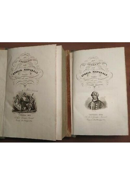LO SPIRITO DELLA STORIA NATURALE di BUFFON 6 Volumi Completo 1834 - 39 Antonelli
