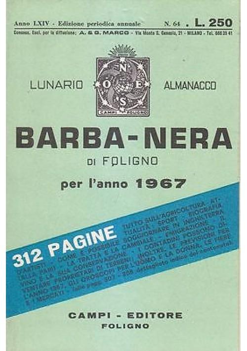 LUNARIO ALMANACCO BARBA NERA DI FOLIGNO PER L ANNO 1967  Campi trattori SAME *