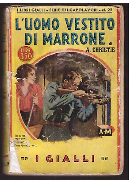 L'UOMO VESTITO DI MARRONE di Agatha Christie 1940 Mondadori Gialli capolavori