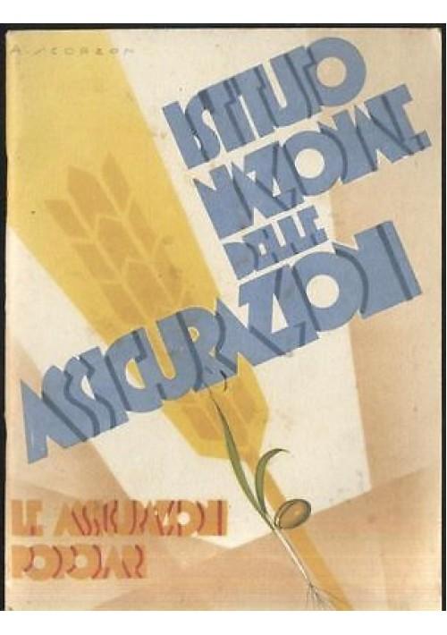 Le Assicurazioni popolari Istituto Nazionale assicurazioni anni '30 Scorlon