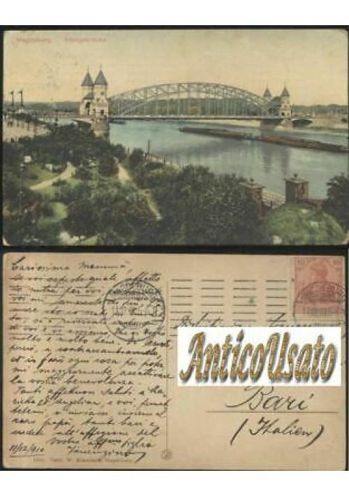 MAGDEBURG KONIGSBRUCKE viaggiata 11/12/1910 ORIGINALE cartolina Germania