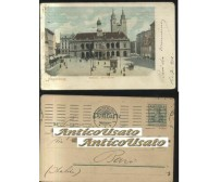 MAGDEBURG RATHAUS ALTER MARKT viaggiata 16/07/1910 ORIGINALE cartolina Germania