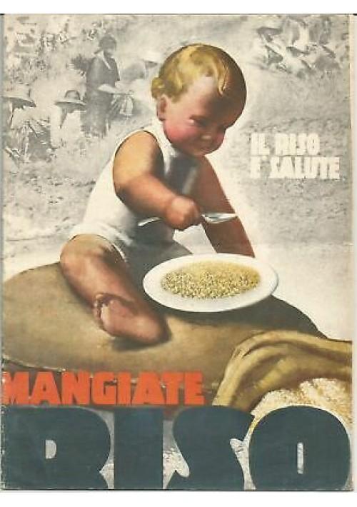 MANGIATE RISO ricettario libretto 1932 copertina Boccasile