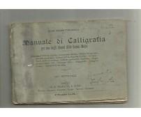 MANUALE DI CALLIGRAFIA di Cesare Torricelli 1936 Paravia alunni scuole medie *
