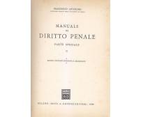 MANUALE DIRITTO PENALE vol.II PARTE SPECIALE - Francesco Antolisei 1966 Giuffrè