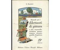 MANUALE PER I DILETTANTI DI PITTURA - G. Ronchetti 1984 Hoepli manuali 19° ediz