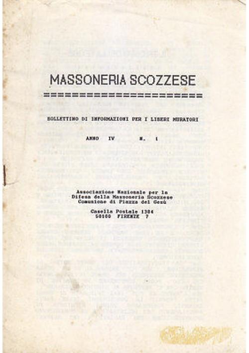 MASSONERIA SCOZZESE ANNO IV N 1  Bollettino di Informazioni Liberi Muratori 1992