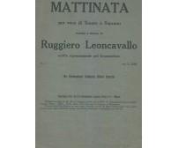 MATTINATA Leoncavallo SPARTITO tenore soprano Gramophone company dopo il 1904