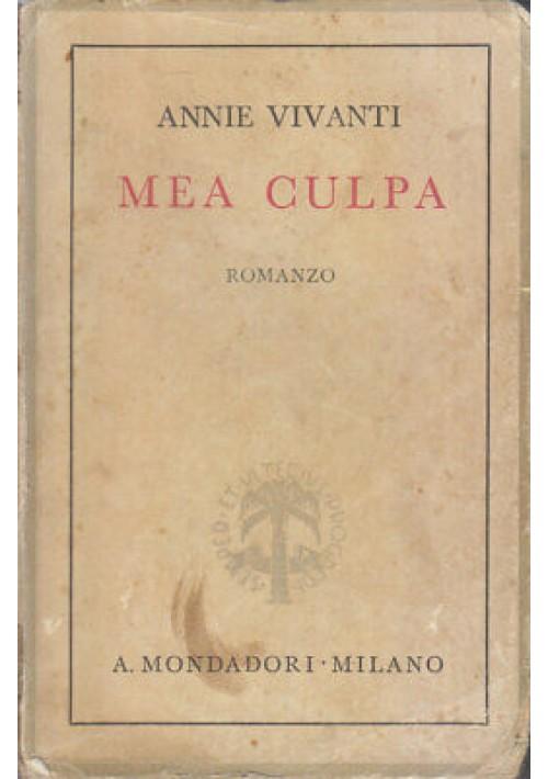MEA CULPA Annie Vivanti 1937 Mondadori IX edizione