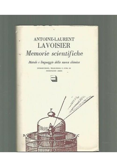 MEMORIE SCIENTIFICHE Antoine Laurent Lavoisier 1986 edizioni Theoria chimica