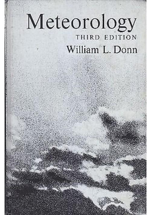METEOROLOGY di William Donn - McGraw-Hill editore 1965