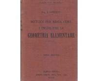 METODI PER RISOLVERE PROBLEMI DI GEOMETRIA ELEMENTARE Italo Ghersi 1925 Hoepli *