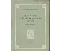 MITO E REALTà DELLA CIVILTà CONTADINA LUCANA di Giovanni Bronzini 1981 Congedo *