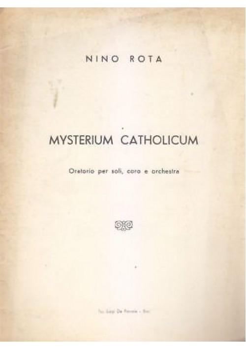 MYSTERIUM CATHOLICUM di Nino Rota - Bari tip. Luigi De Pascale, senza data